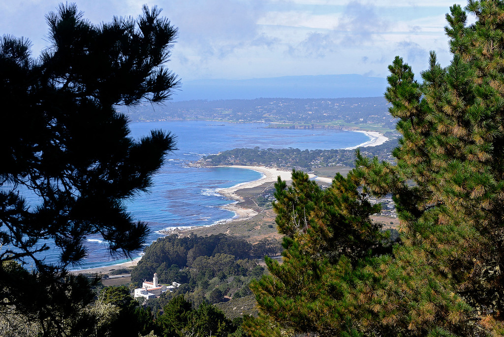 . Looking north from the Point Lobos Ranch property over Carmel River State Beach, Carmel Beach and the Pebble Beach Golf Links on Wednesday, September 12, 2018.  (Vern Fisher - Monterey Herald)