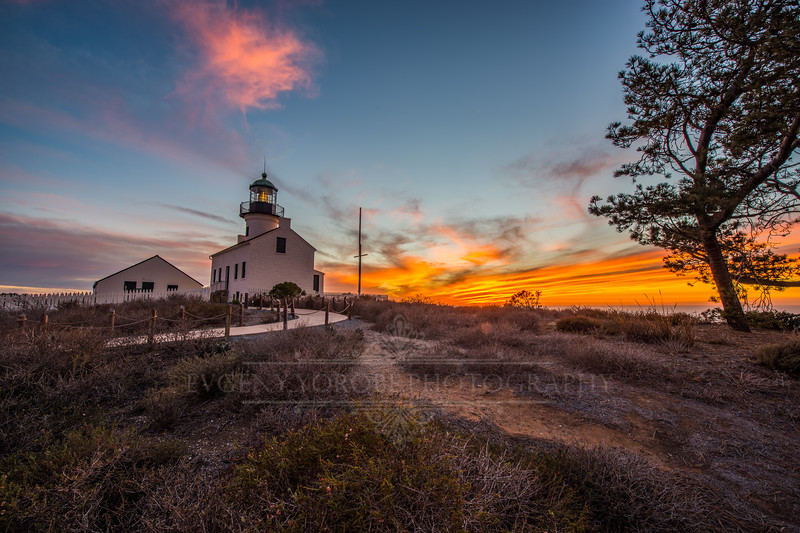 Sunset at the Old Point Loma Lighthouse