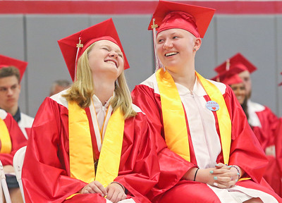 [Left] Olivia Frizzell and Regina Schliep The 2019 Graduation Ceremony for Point Pleasant Beach High School in Point Pleasant Beach, NJ on 6/20/19. [DANIELLA HEMINGHAUS | THE OCEAN STAR]