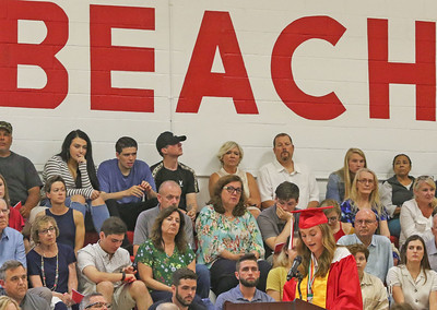Valedictorian, Hannah Malcolm The 2019 Graduation Ceremony for Point Pleasant Beach High School in Point Pleasant Beach, NJ on 6/20/19. [DANIELLA HEMINGHAUS | THE OCEAN STAR]