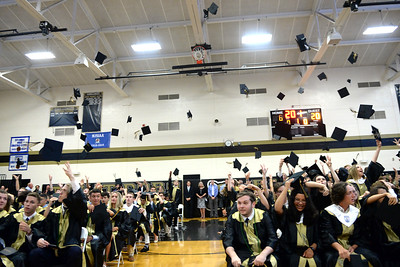 The 2019 Point Pleasant High School Graduation Commencement Exercizes were held at the Memorial Middle School Gymnasium in Point Pleasant, NJ on 06/20/2019. (STEVE WEXLER/THE OCEAN STAR).