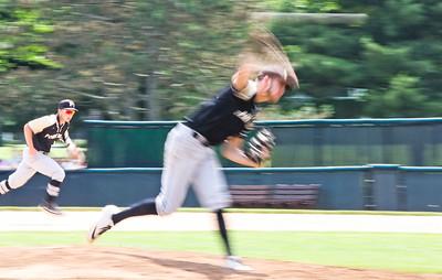 no.6, Nicholas Guzzi and no.18, Nicholas Zbikowski Point Pleasant Boro baseball v/s Pascack Hills in the NJSIAA Group II Final in Hamilton, NJ on 6/8/19. Final 2-0 Pascack Hills. [DANIELLA HEMINGHAUS | THE OCEAN STAR]