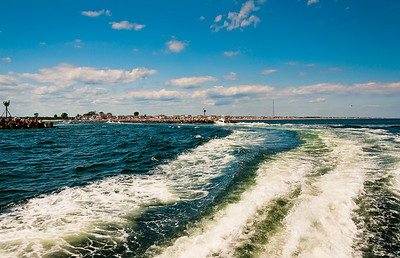 Wake from Vessel Leaving Manasquan Inlet, Point Pleasant, NJ