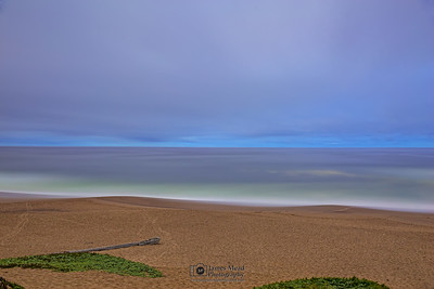 """Lonesome,"" Nautical Twilight over the Pacific Ocean, Point Reyes National Seashore, California"