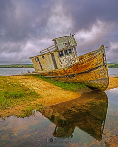 """Wrecked,"" Point Reyes Shipwreck, Tomales Bay, Point Reyes National Seashore, Inverness, California"