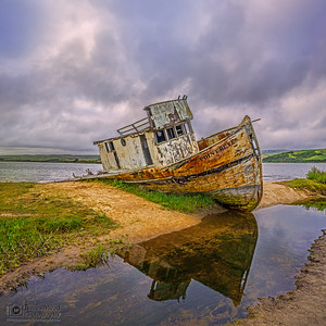 """Alone,"" Point Reyes Shipwreck, Tomales Bay, Point Reyes National Seashore, Inverness, California"