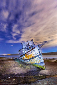 """Ship in the Night,"" Point Reyes Shipwreck, Tomales Bay, Point Reyes National Seashore, Inverness, California"