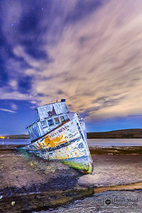 """Neglected Beauty,"" Point Reyes Shipwreck, Tomales Bay, Point Reyes National Seashore, Inverness, California"