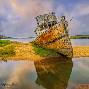 """Abandoned Waters,"" Point Reyes Shipwreck, Tomales Bay, Point Reyes National Seashore, Inverness, California"