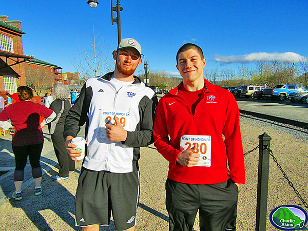 Point of Honor 5K runners