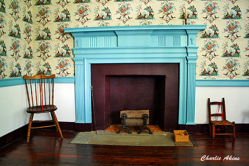 Fireplace in the children's bedroom