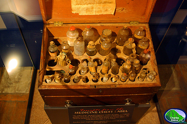 Medicine chest belonged to the home's owner, Dr. George Cabell