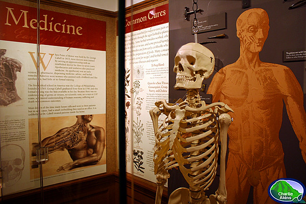 There is also an exhibit on medicine during the early 1800's
