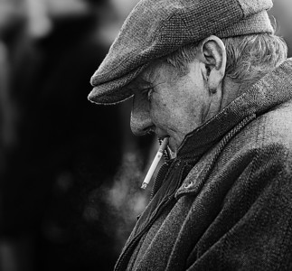 Spectator in betting ring, Barbury point-to-point