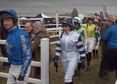 Entering the parade ring, Larkhill point-to-point