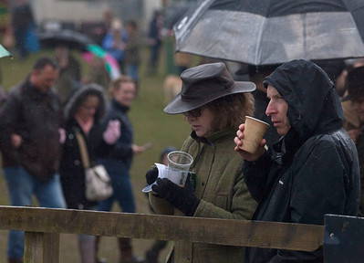 Spectators at parade ring, Andoversford point-to-point