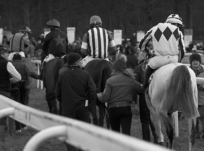 Post-race, Kingston Blount point-to-point