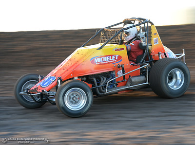 Jeremy Wilson as drivers compete Friday, June 30, 2017, at the Silver Dollar Speedway in Points Race No. 8 in Chico, California. (Dan Reidel -- Enterprise-Record)