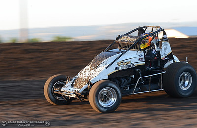 Barry Pries Jr. as drivers compete Friday, June 30, 2017, at the Silver Dollar Speedway in Points Race No. 8 in Chico, California. (Dan Reidel -- Enterprise-Record)