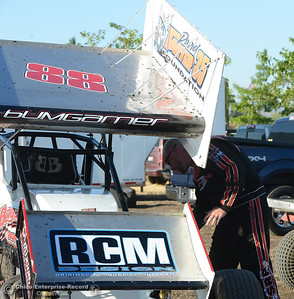 Brad Bumgarner as drivers compete Friday, June 30, 2017, at the Silver Dollar Speedway in Points Race No. 8 in Chico, California. (Dan Reidel -- Enterprise-Record)