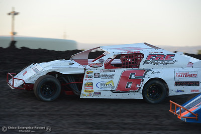 Justin Foux (6J) as drivers compete Friday, June 30, 2017, at the Silver Dollar Speedway in Points Race No. 8 in Chico, California. (Dan Reidel -- Enterprise-Record)