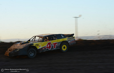 Brent Lawrence as drivers compete Friday, June 30, 2017, at the Silver Dollar Speedway in Points Race No. 8 in Chico, California. (Dan Reidel -- Enterprise-Record)