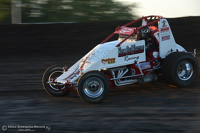 Gary Paulson as drivers compete Friday, June 30, 2017, at the Silver Dollar Speedway in Points Race No. 8 in Chico, California. (Dan Reidel -- Enterprise-Record)