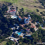 Hearst Castle : The Hearst Castle is a mansion and former home of William Randolph Hearst. Constructed between 1919-1947, the Hearst Castle is about half-way between Los Angeles and San Francisco, located in San Simeon in Central California. It was donated to the State of California in 1957 and has been maintained as a state historic park.