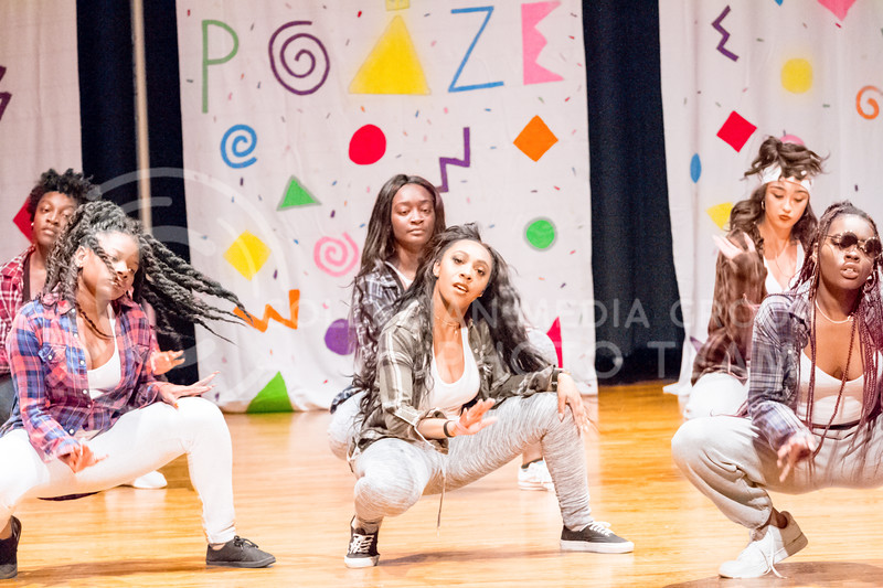 The Poize Hip-Hop dance team proforms at Poize's House Party in the Kansas State Student Union on 14 Nov, 2017 (Alex Shaw | Collegian Media Group)