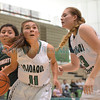 Ben Lujan basketball tournament girls first round game between Wingate and Pojoaque played Thursday, December 15, 2016 at Ben Lujan Gymnasium, Pojoaque Valley. Clyde Mueller/The New Mexican