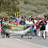 Demonstrators march in support of Sioux people contesting the construction of an oil pipeline in North Dakota on Thursday September 8, 2016. Clyde Mueller/The New Mexican
