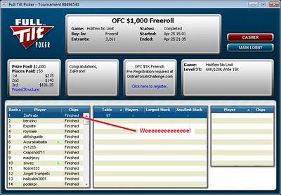OFC Freeroll WIN 2009-04-25