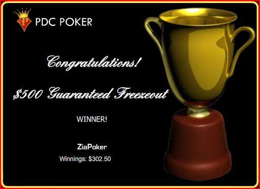 2009-12-26 PDC $500 Freezout Win
