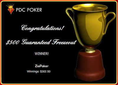 2009-12-26 PDC $500 Freezout Win
