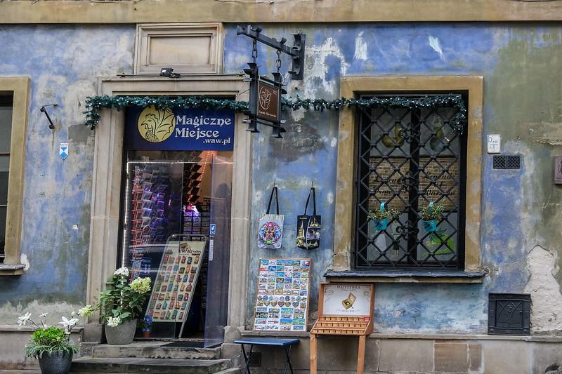 Store on a side street in Warsaw.