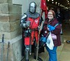 Jan with a knight in satin armor. Krakow.