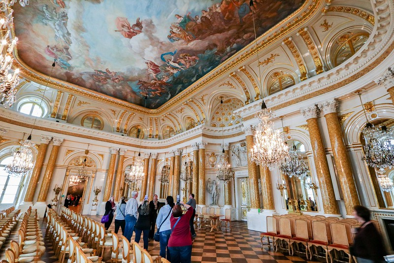 The Royal Castle in Warsaw was nicer inside than the exterior hinted.  The inside was beautiful, though. This is one of the meeting rooms.