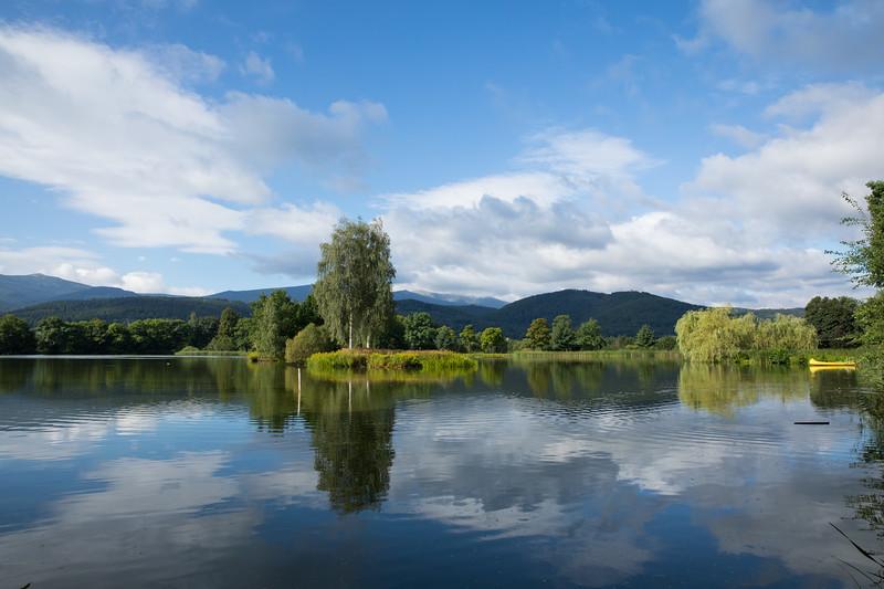 Beautiful lakes around Cieplice, Poland