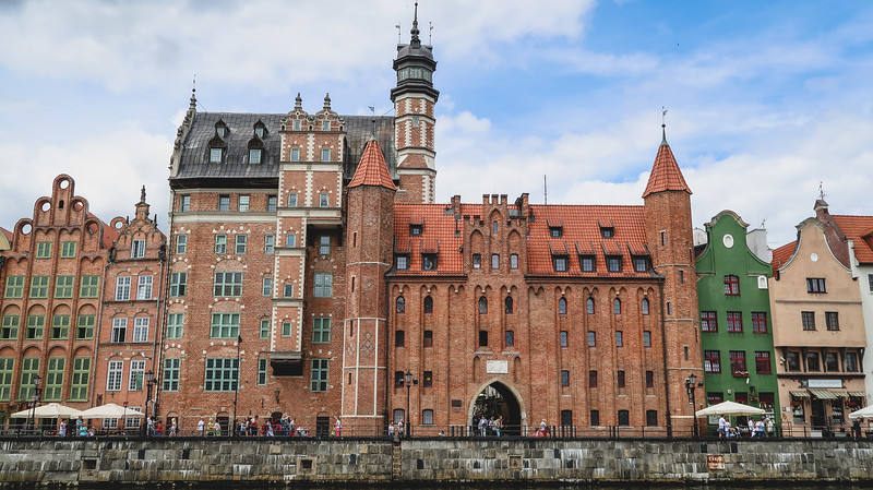 One of the many brick gates in Gdansk