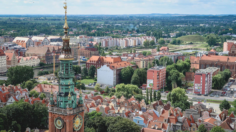 Views of Gdansk from St. Mary's Church