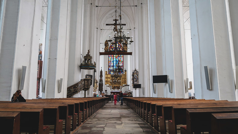 Inside St Mary's Basilica in Gdansk