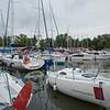 Sailing boats at Gizycko Harbour, Poland