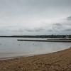 Gloomy day at Gizycko beach, Poland