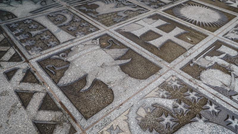 The floor inside Wawel Castle