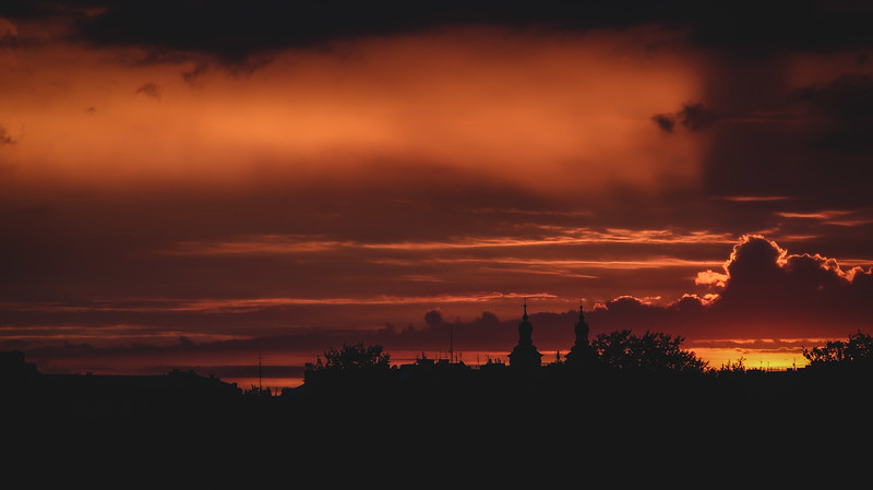 Sunset in Krakow, Poland