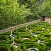 Formal gardens at Ksiaz Castle, Poland