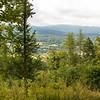 View from Ksiecia Henryka castle over Jelenia Gora, Poland