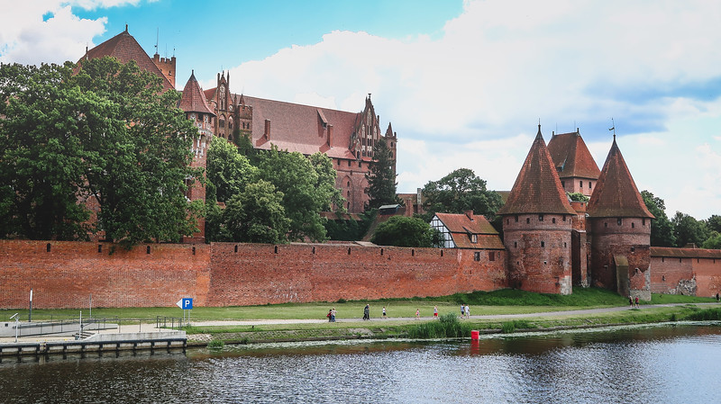 Malbork Castle as seen from the backside on the Nogat River
