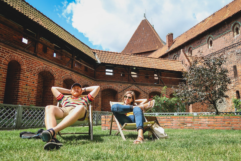 Relaxing on our day trip from Gdansk to Malbork
