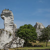 Cliffs surrounding Ogrodzieniec Castle, Poland